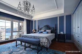 欧式【尺子室内设计】蓝色郡城 道不尽的优雅与品质卧室设计