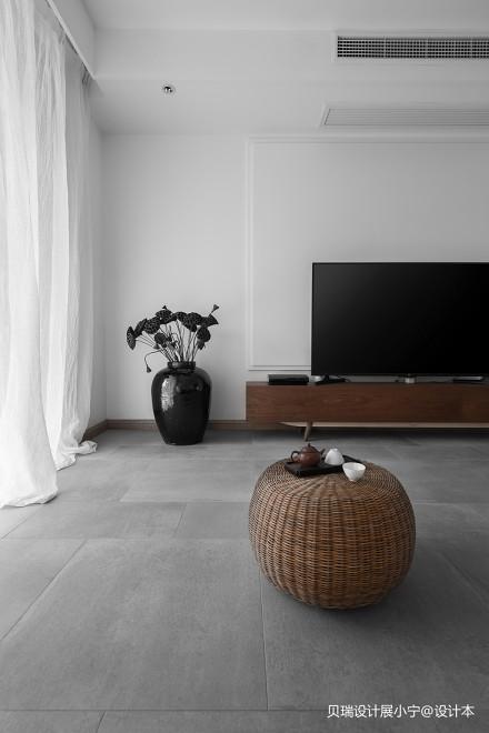 明亮71平现代复式客厅布置图