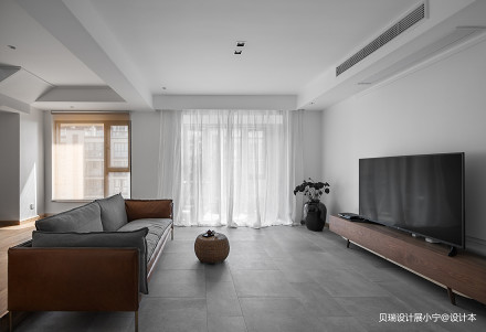 精美78平现代复式客厅装潢图