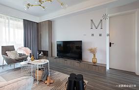 质朴73平简约二居客厅效果图二居现代简约家装装修案例效果图