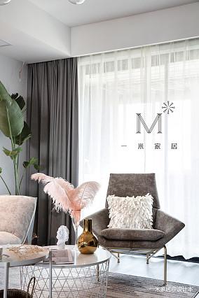 华丽66平简约二居客厅装修装饰图二居现代简约家装装修案例效果图
