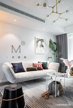 平简约二居客厅装修装饰图二居现代简约家装装修案例效果图