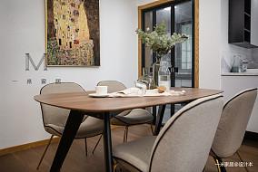 轻奢89平北欧二居装修效果图家装装修案例效果图