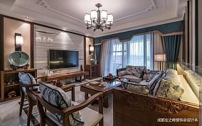 华丽153平中式四居客厅设计图