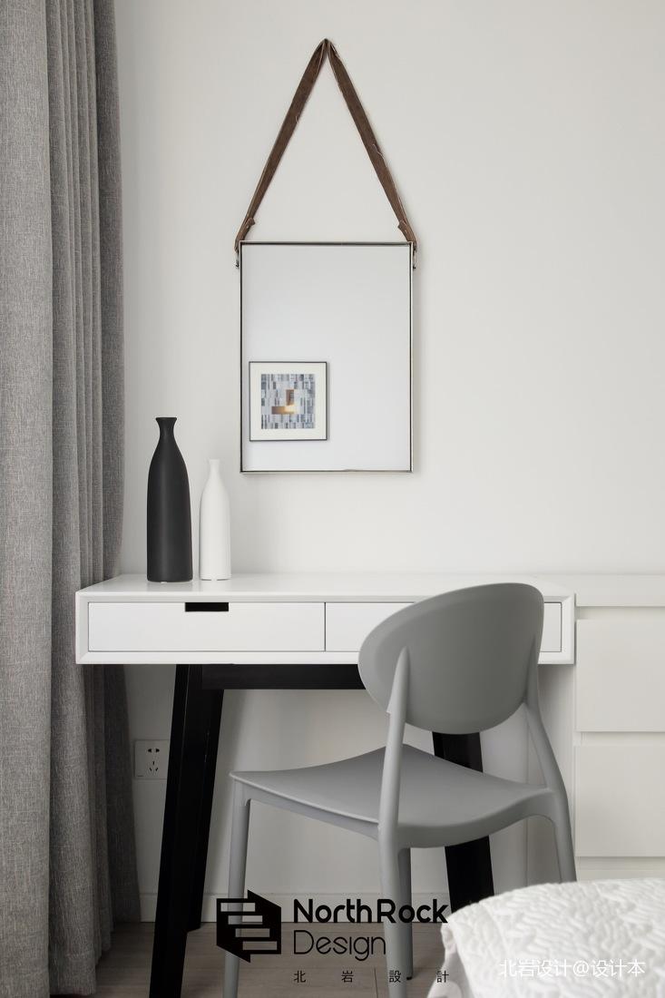温馨99平现代三居卧室效果图片大全功能区书柜现代简约功能区设计图片赏析
