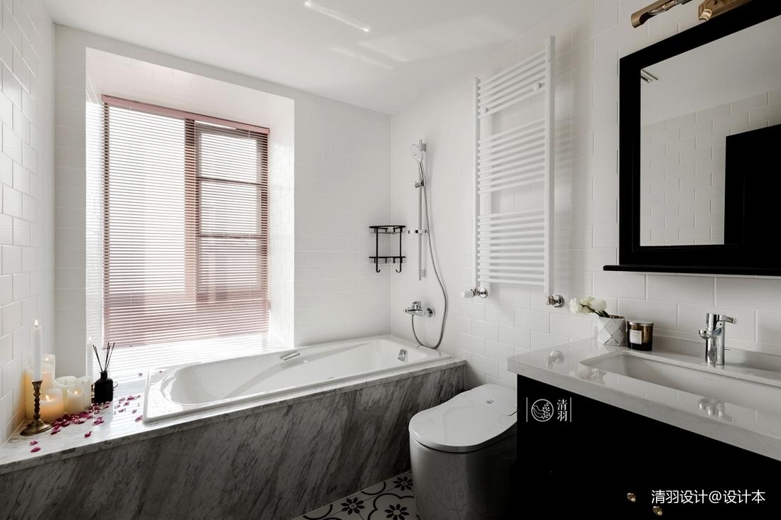 平混搭三居卫生间图片大全卫生间马桶潮流混搭卫生间设计图片赏析
