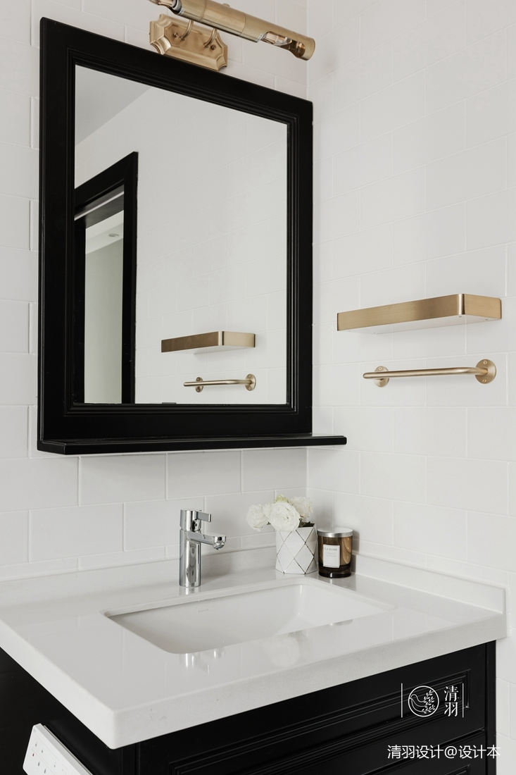 精美122平混搭三居卫生间美图卫生间洗漱台潮流混搭卫生间设计图片赏析