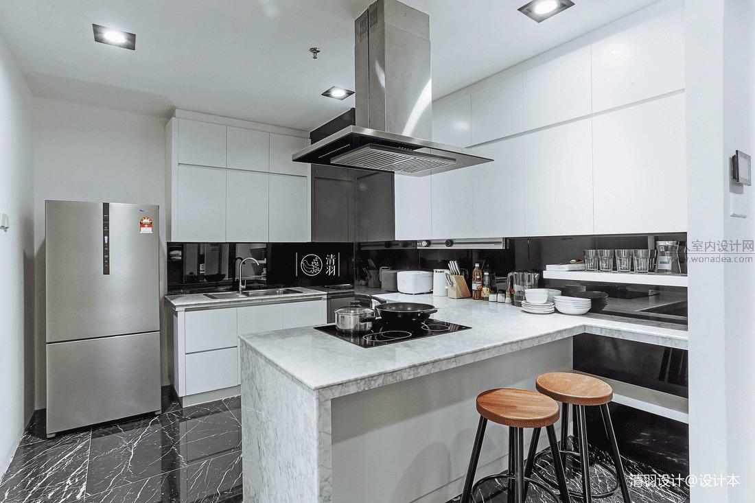 典雅37平混搭小户型餐厅装修图片餐厅潮流混搭厨房设计图片赏析