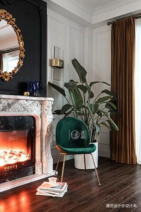 简洁36平法式小户型客厅设计案例一居欧式豪华家装装修案例效果图
