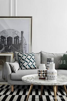 明亮25平法式小户型客厅装修装饰图一居欧式豪华家装装修案例效果图