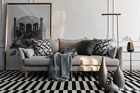 典雅37平法式小户型客厅美图一居欧式豪华家装装修案例效果图