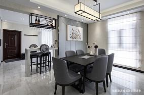 优美132平现代四居餐厅实景图