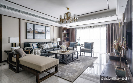 简洁699平中式别墅客厅装饰美图