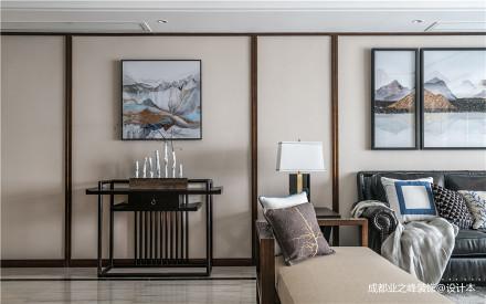 浪漫250平中式别墅客厅效果图欣赏别墅豪宅中式现代家装装修案例效果图
