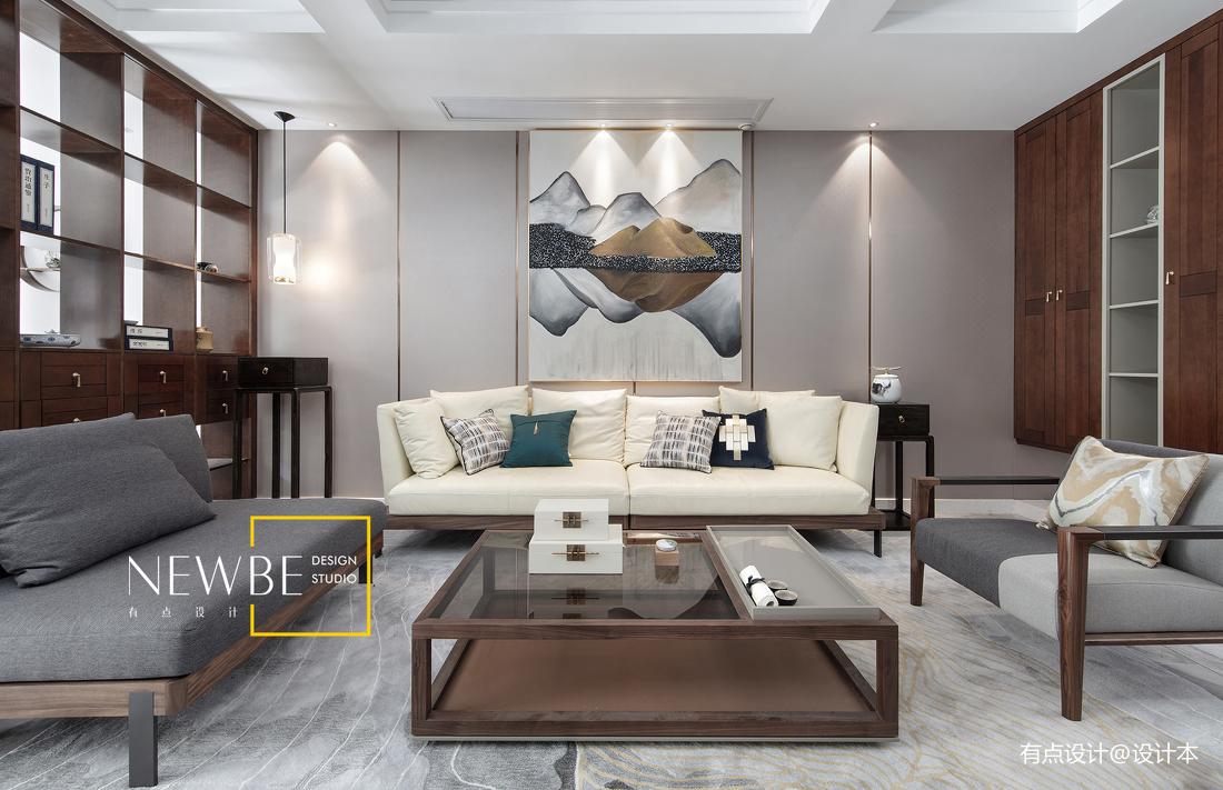 质朴763平中式别墅客厅图片欣赏客厅中式现代客厅设计图片赏析