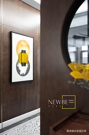 简洁709平中式别墅装修案例别墅豪宅中式现代家装装修案例效果图