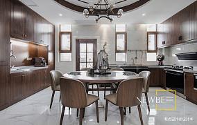 温馨294平中式别墅客厅设计案例别墅豪宅中式现代家装装修案例效果图