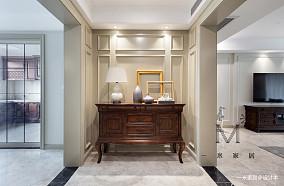 华丽107平美式四居客厅图片大全四居及以上美式经典家装装修案例效果图