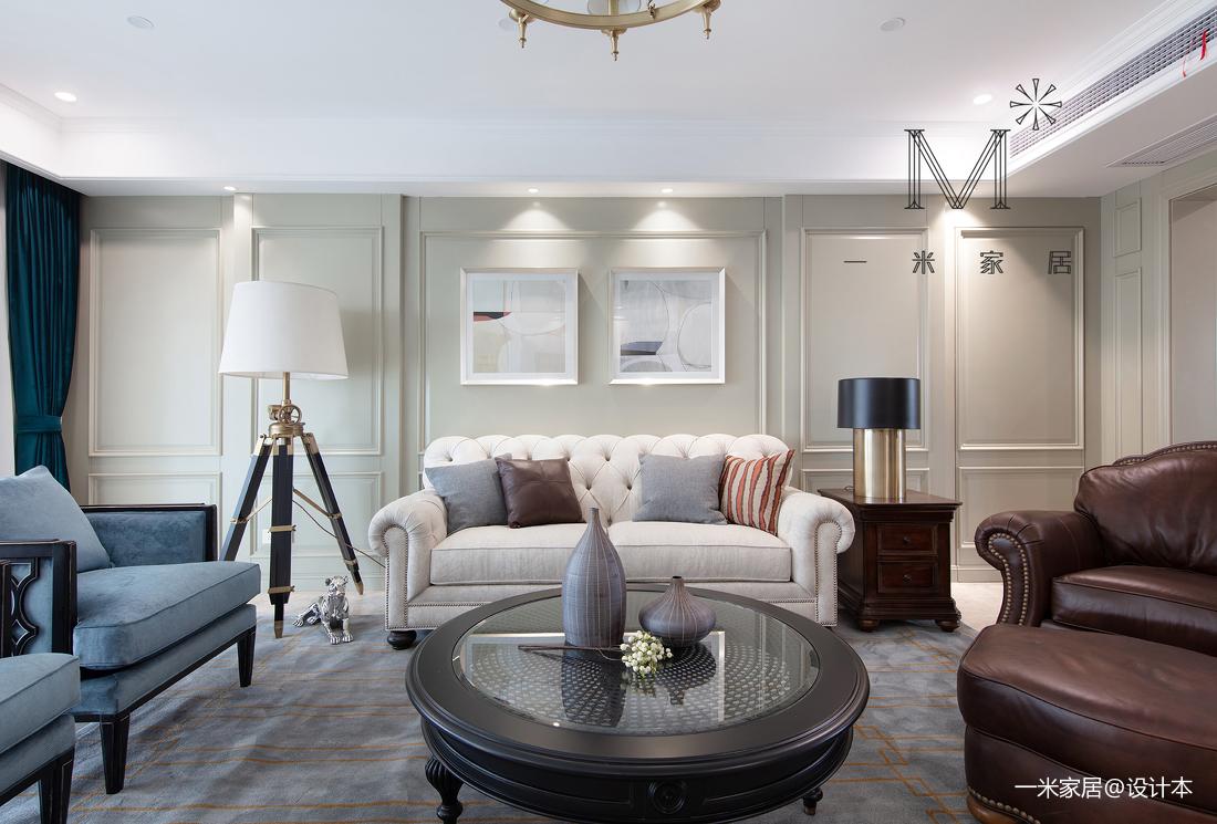 优雅262平美式四居客厅装修装饰图四居及以上美式经典家装装修案例效果图