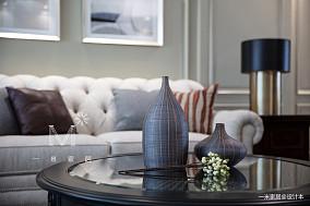 大气91平美式四居客厅实景图四居及以上美式经典家装装修案例效果图