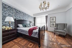 浪漫100平美式四居设计案例四居及以上美式经典家装装修案例效果图