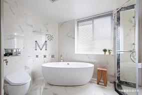 优雅108平美式四居客厅效果图片大全四居及以上美式经典家装装修案例效果图