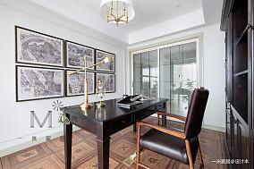 优美117平美式四居装修图四居及以上美式经典家装装修案例效果图