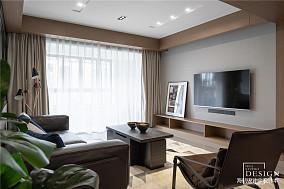 简洁150平简约三居客厅实拍图