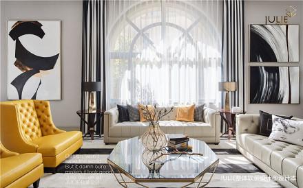 2019710平现代别墅客厅图片大全别墅豪宅现代简约家装装修案例效果图
