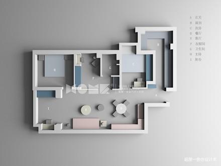大气72平日式三居装修装饰图
