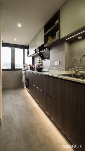 温馨25平混搭小户型厨房图片欣赏81-100m²一居潮流混搭家装装修案例效果图