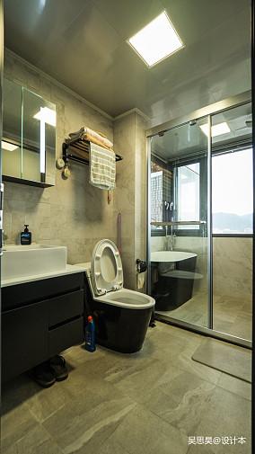 平混搭小户型卫生间效果图81-100m²一居潮流混搭家装装修案例效果图