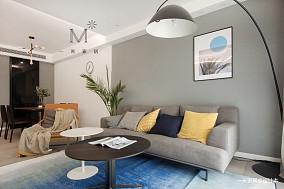 浪漫68平现代二居客厅图片大全二居现代简约家装装修案例效果图