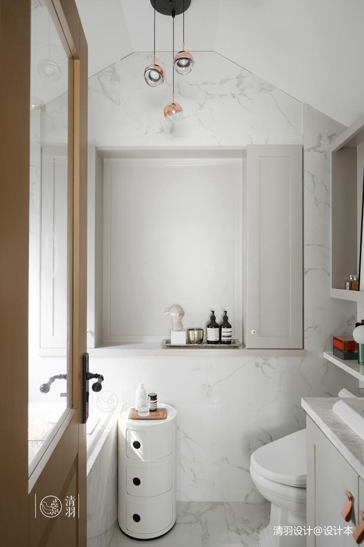 简洁103平混搭四居卫生间效果图卫生间洗漱台潮流混搭卫生间设计图片赏析