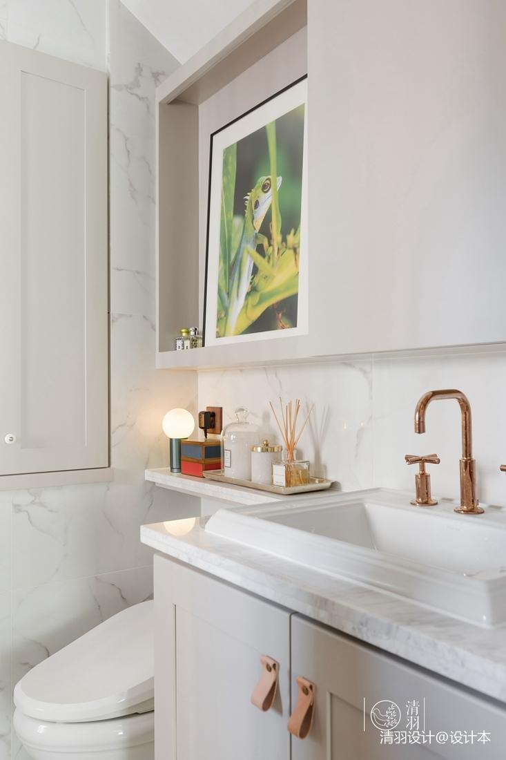 典雅100平混搭四居卫生间效果图卫生间洗漱台潮流混搭卫生间设计图片赏析