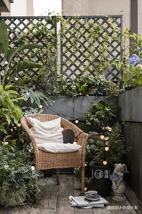 温馨128平美式四居花园装修装饰图