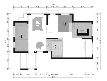 温馨85平现代三居设计案例