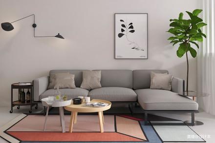 优雅26平北欧小户型卧室实景图