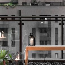 悠雅124平北欧四居阳台实景图片