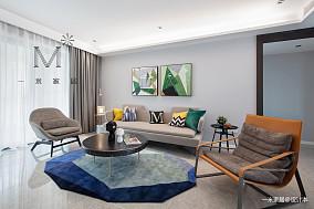 质朴146平现代三居客厅实景图三居现代简约家装装修案例效果图