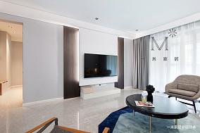 优美104平现代三居案例图三居现代简约家装装修案例效果图