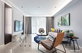 轻奢96平现代三居装修图三居现代简约家装装修案例效果图