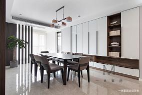 典雅98平现代三居图片大全三居现代简约家装装修案例效果图