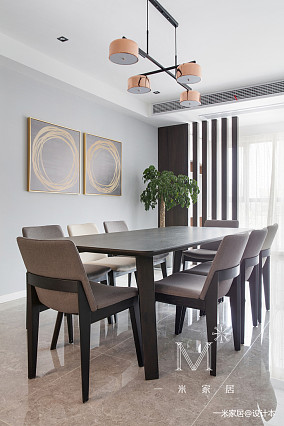 典雅88平现代三居设计美图三居现代简约家装装修案例效果图