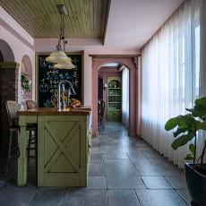 悠雅56平法式复式厨房美图