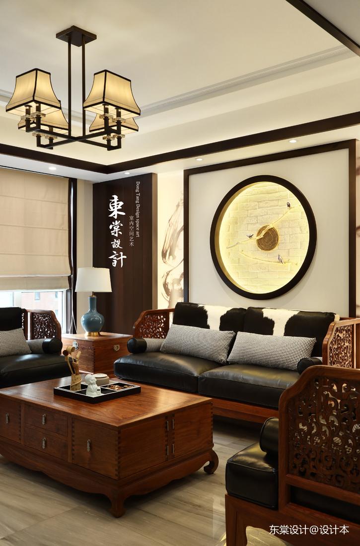 优美81平中式复式客厅装饰图片客厅中式现代客厅设计图片赏析