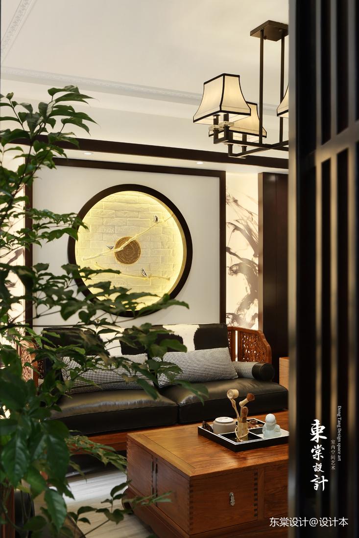 浪漫74平中式复式客厅美图客厅中式现代客厅设计图片赏析
