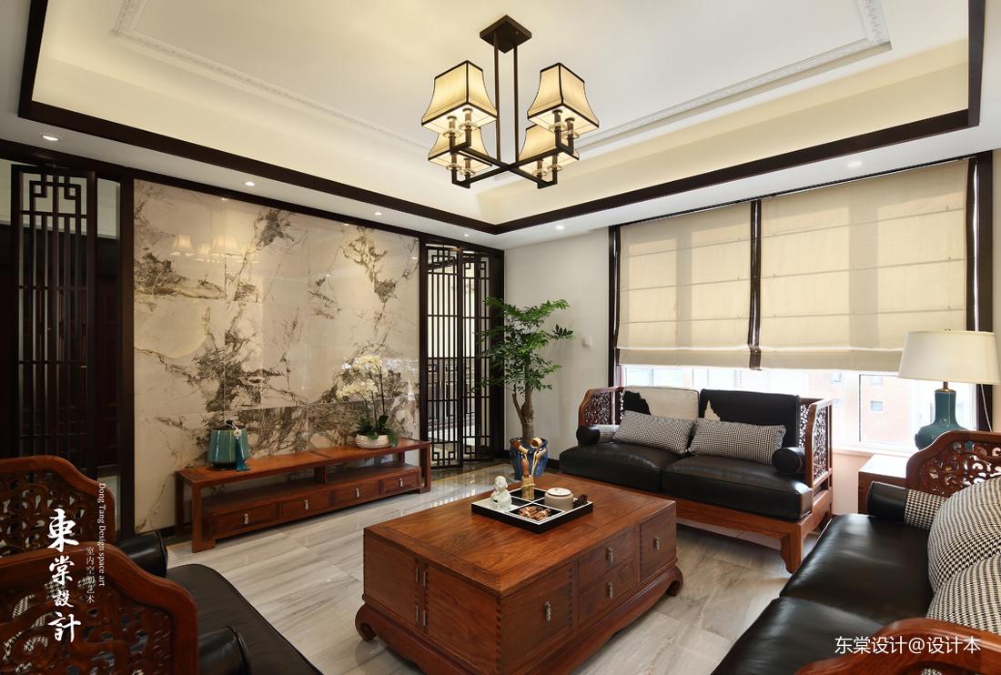平中式复式客厅装修案例客厅中式现代客厅设计图片赏析