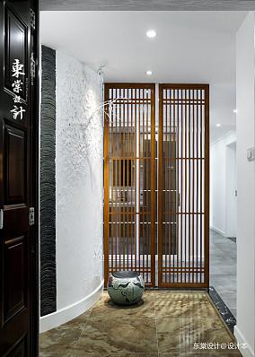 华丽120平中式三居玄关装修美图三居中式现代家装装修案例效果图
