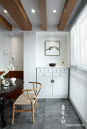 平中式三居餐厅设计图三居中式现代家装装修案例效果图